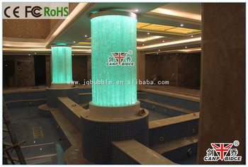 Modern Interior Hotel Spa Club Water Feature Roman Column ...