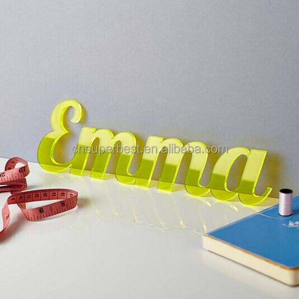 Manufacturer hot sale custom acrylic laser cut alphabet letter