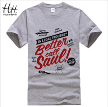 BETTER CALL SAUL Men T-shirt BREAKING BAD Los Pollos Hermanos Cotton Short Sleeve Round Neck Tops Tees Fashion T shirt TA0171