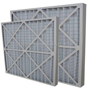 Primary Efficiency Aluminum Frame Pleated Panel Air Filter HAVC Filter