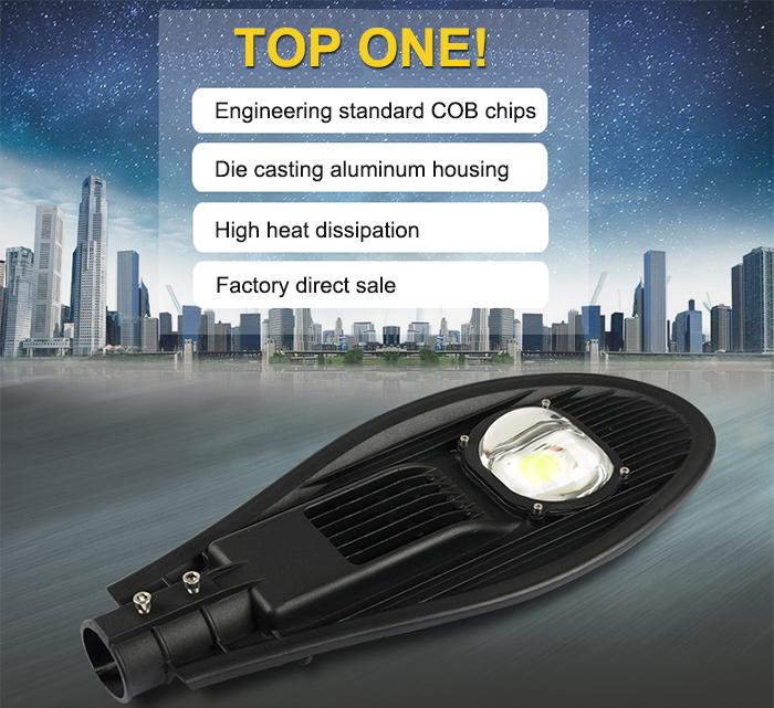 Outdoor Lighting IP66 Solar Led Street Light Price With Photocell