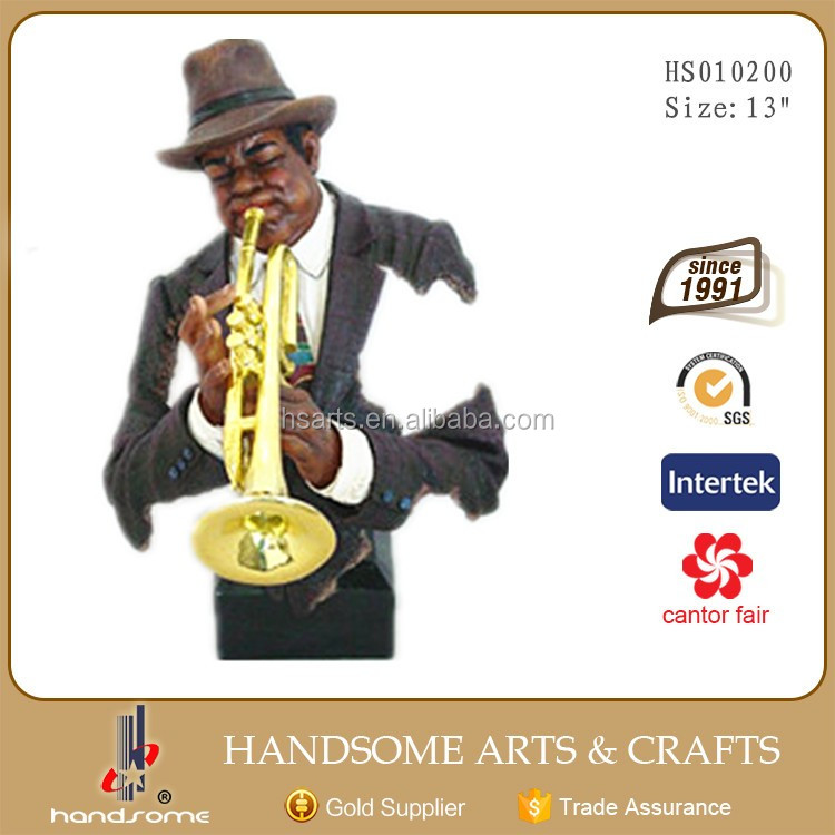 13 Inch Resin Craft Bar Table Decoration Saxophone Musician Jazz Figurines