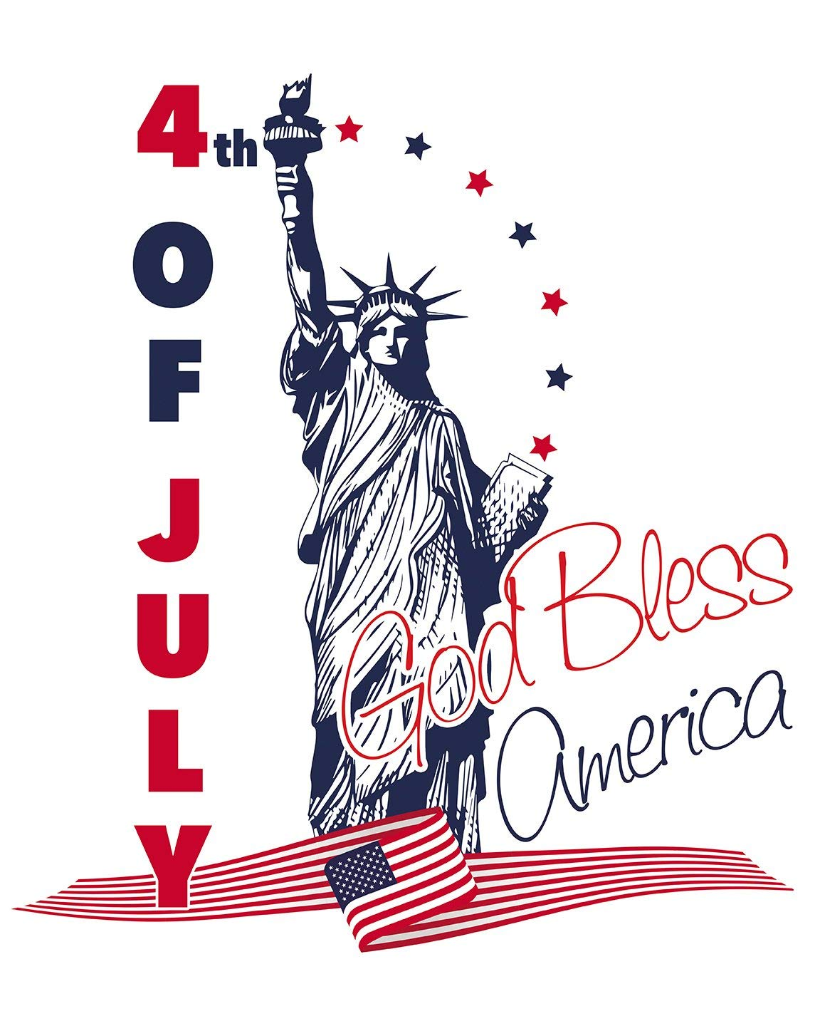 God Bless America, 4th of July, Independence Day, Statue of Liberty Shirt, Independence Day T-Shirt, Custom America Shirt, American Flag Country Tee, Patriotic Shirt, America Theme Party, Custom Shirt