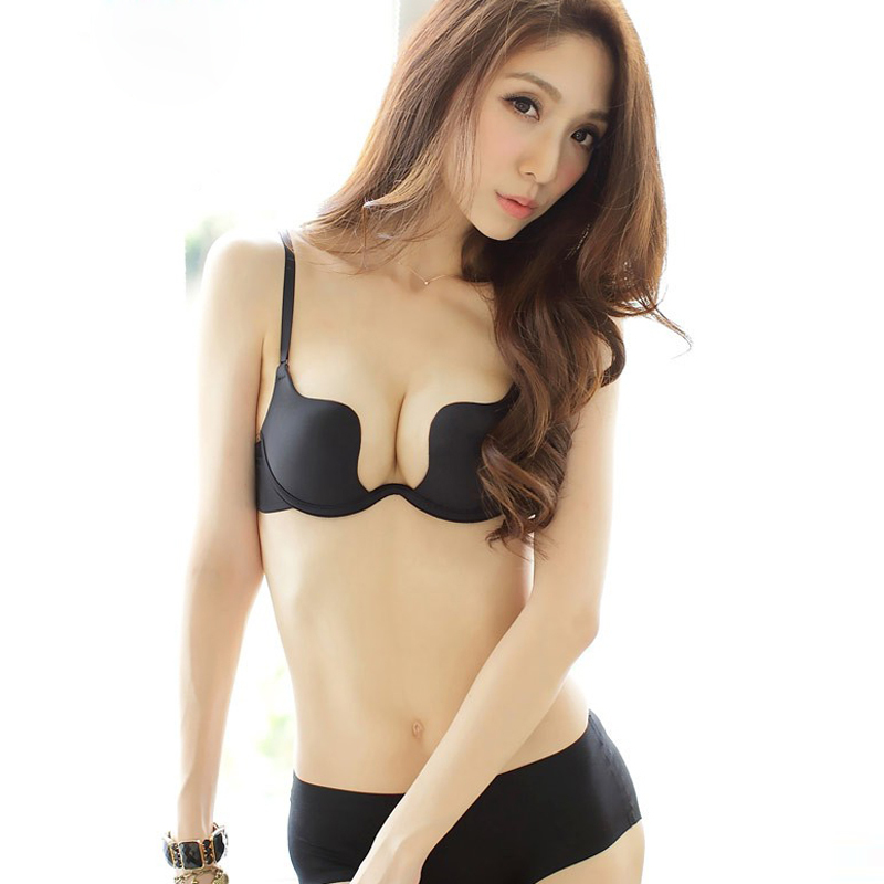 84eca5d8f3a8f Buy Shitagi Women  39 s Sexy Deep U Plunge Bra Multi-Way One-Piece Push Up  Invisible Halter-Neck Bra in Cheap Price on m.alibaba.com