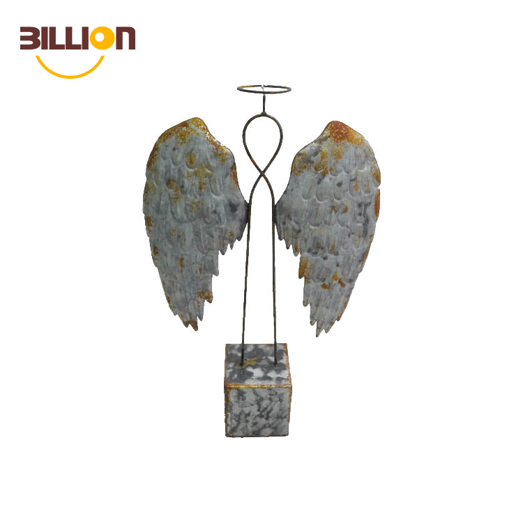 Cheap Iron Wire Handcrafted Angle Garden Decoration