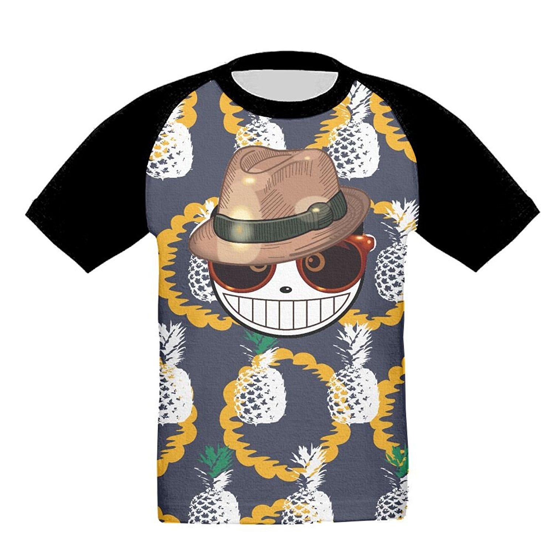 Kids Youth Cute Rainbow Panda 3D Printed Short Sleeve Tshirt Tee for Girls Black