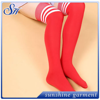 Sexy teenie in long socks