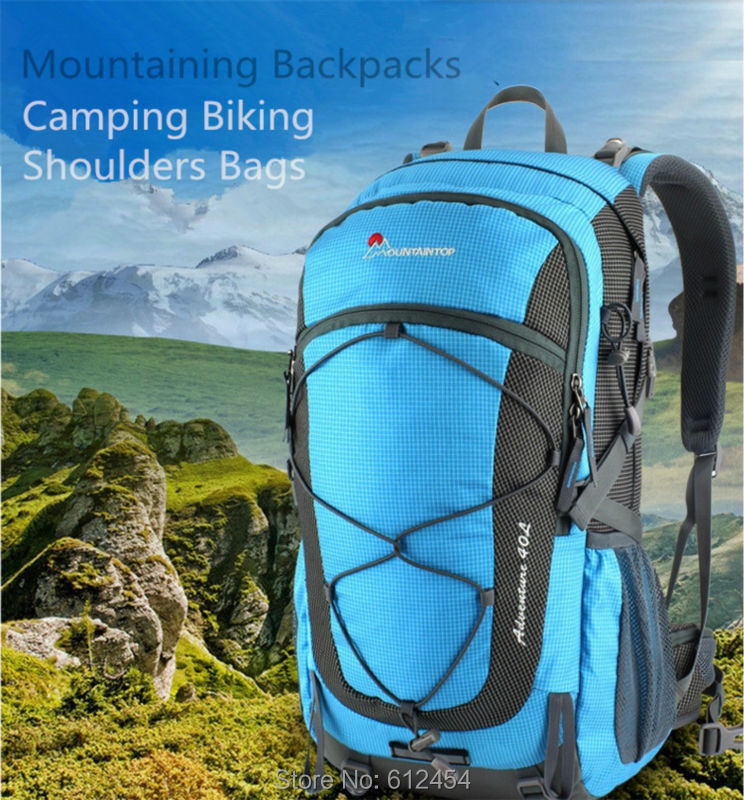 4e3d848e7813 40L Mountaintop Mountain Bag Hiking Backpack Outdoor Shoulders Bag  Waterproof Women  s Casual Backpacks Day Packs For Hiking Climping