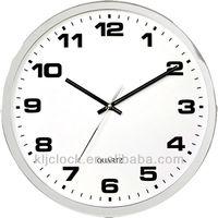 Round Metal Clock WH-9971 Pearl Quartz Wall Clock Metal Frame Clock Metal