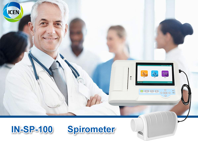 IN-SP-100 best selling Medical Digital Lung Breathing Diagnostic  Spirometer for sale