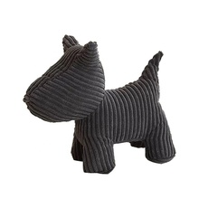 corduroy fabric black dog plush toys simple gift for kids