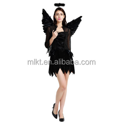 Halloween cosplay dark angel kostuum voor party