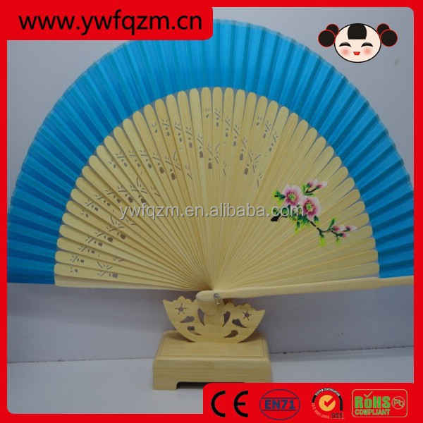 perfect party farvor bamboo wooden carved hand fan,wedding party decor gifts