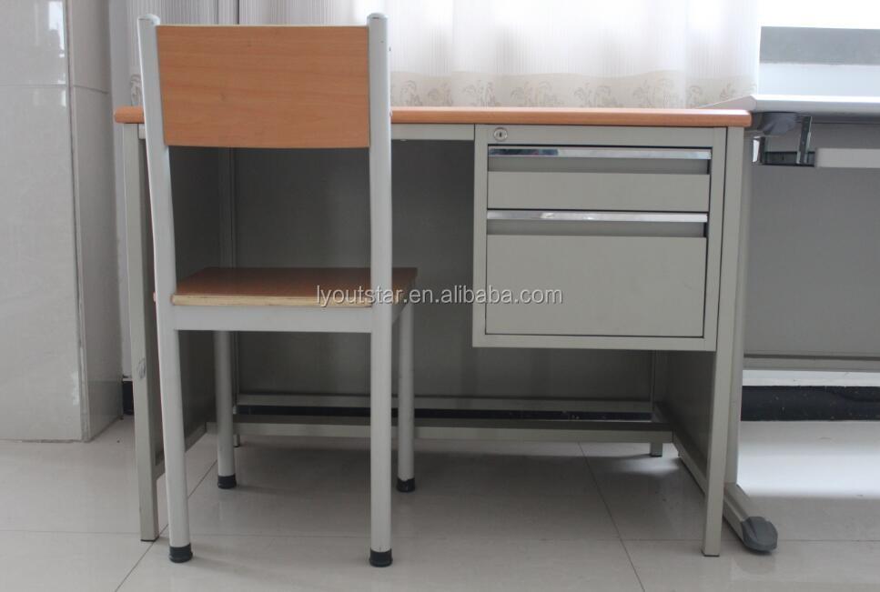 3 ou 2 tiroir stable pieds mdf métal cadre bureau bureau pour vente