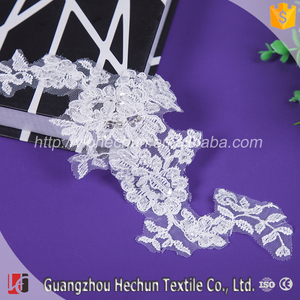 HC-4090 Hechun Bead Pure French Lace Wedding Dress Applique Patch