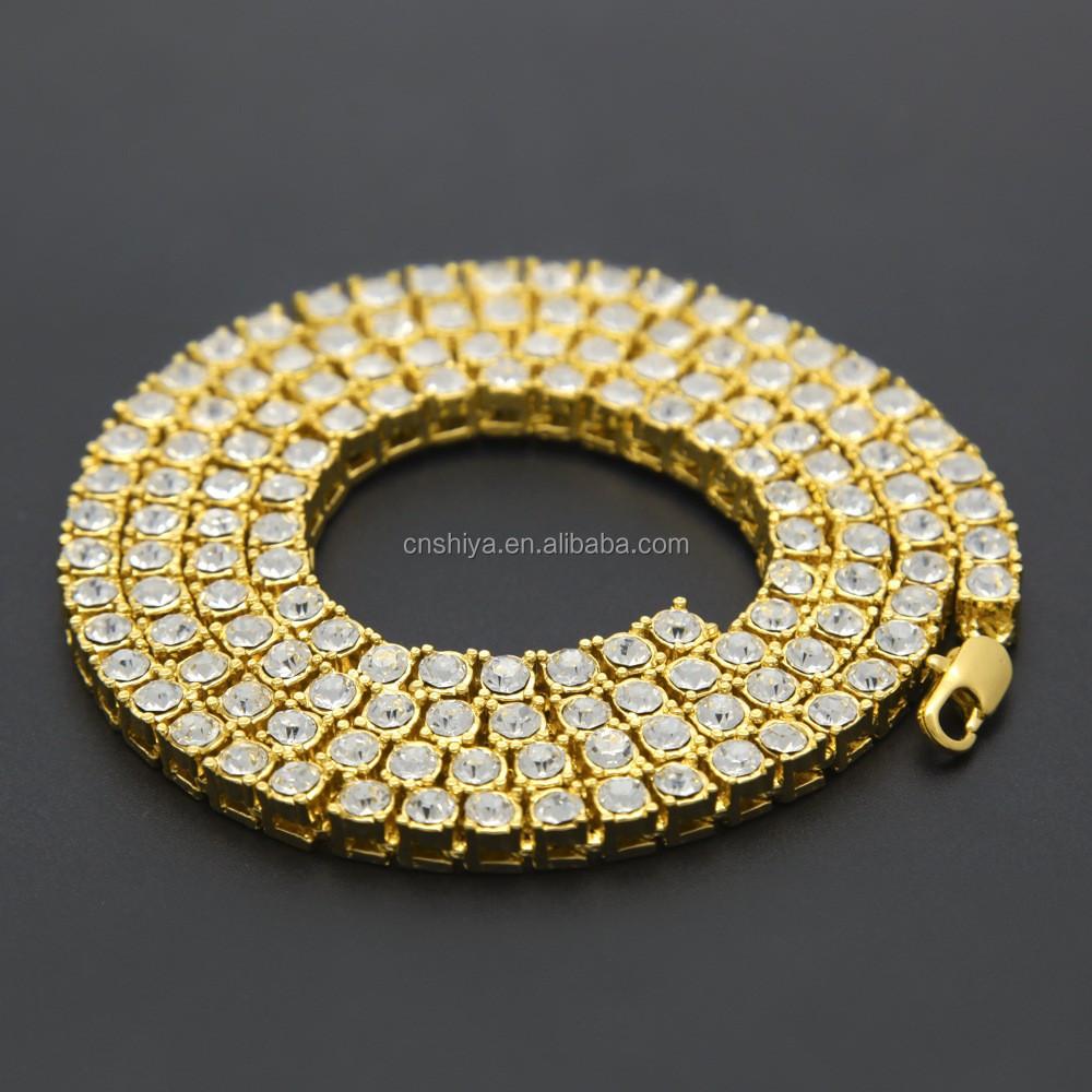 2017 Dubai New Gold Chain Design Girls Ladies Crystal Hip Hop ...