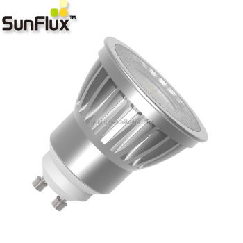 No Strobe 6.5w 7w Dimmable Gu10 Led Bulb With Cri 95