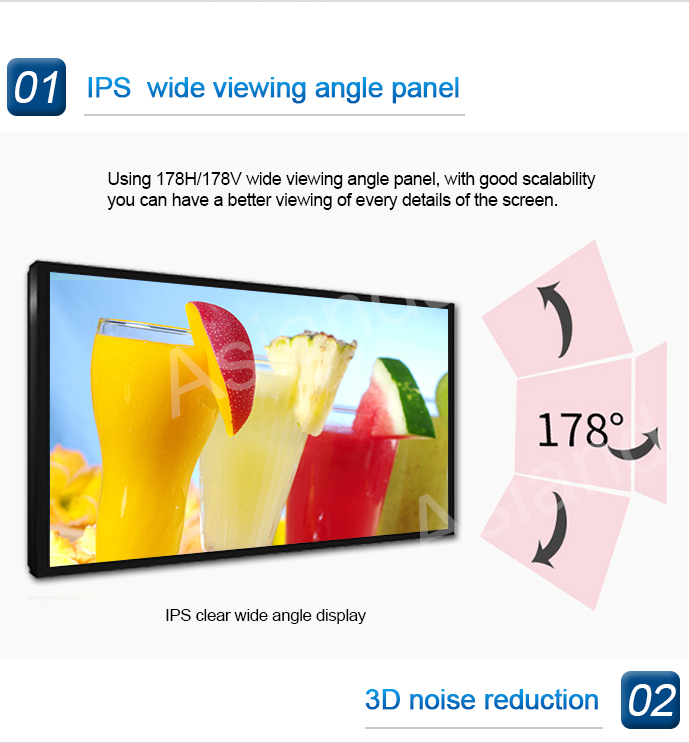 OEM 3D Lcd Touch Screen del Pannello di Parete Interna FHD Touch Screen 4 K TV per il Multi Sistema di
