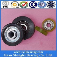 Shower Door Wheels, Plastic Pulleys Small Plastic Roller, Nylon Roller Wheel with Bearing