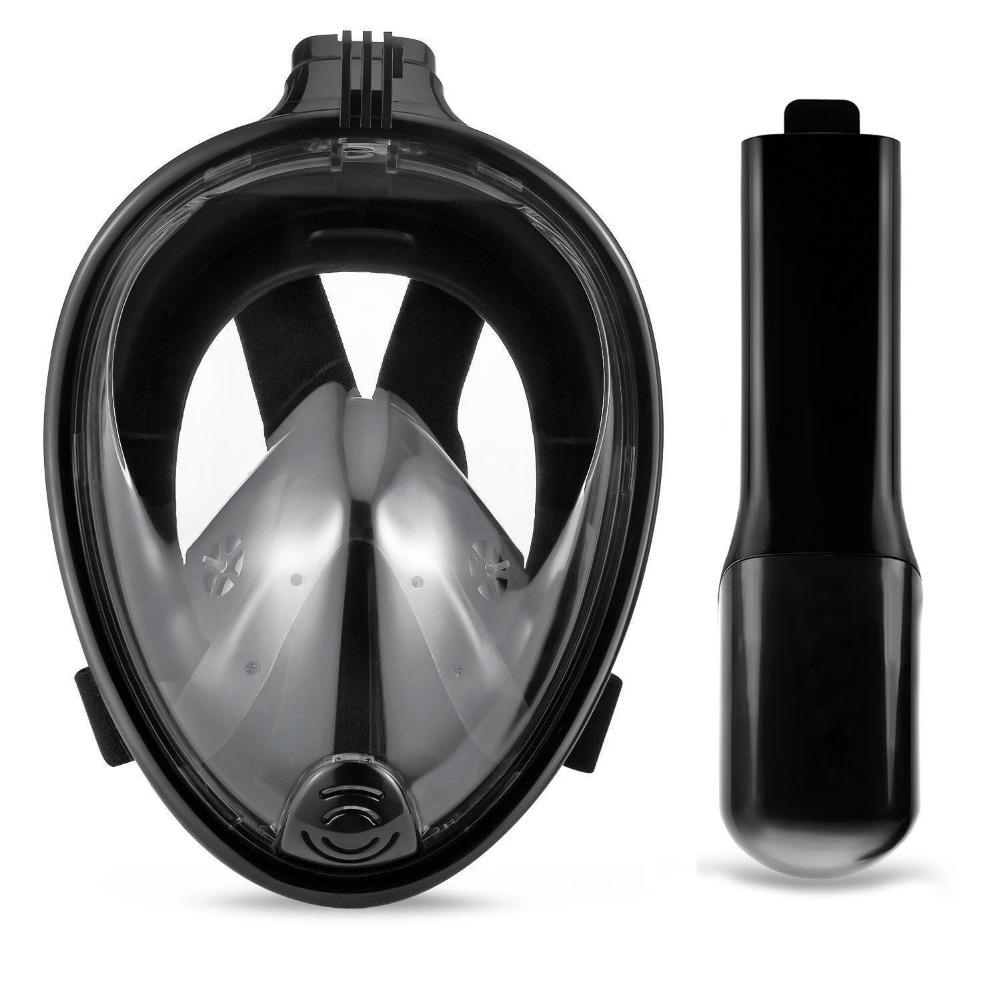Full Face Snorkel Mask Surface Diving Gear Easy Breathing with Dry Snorkel