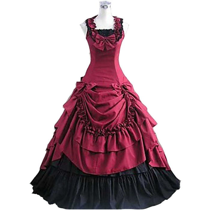 Get Quotations · Halloween costumes for women adult southern belle costume  red Victorian dress Ball Gown Gothic lolita dress ee7259e15d57