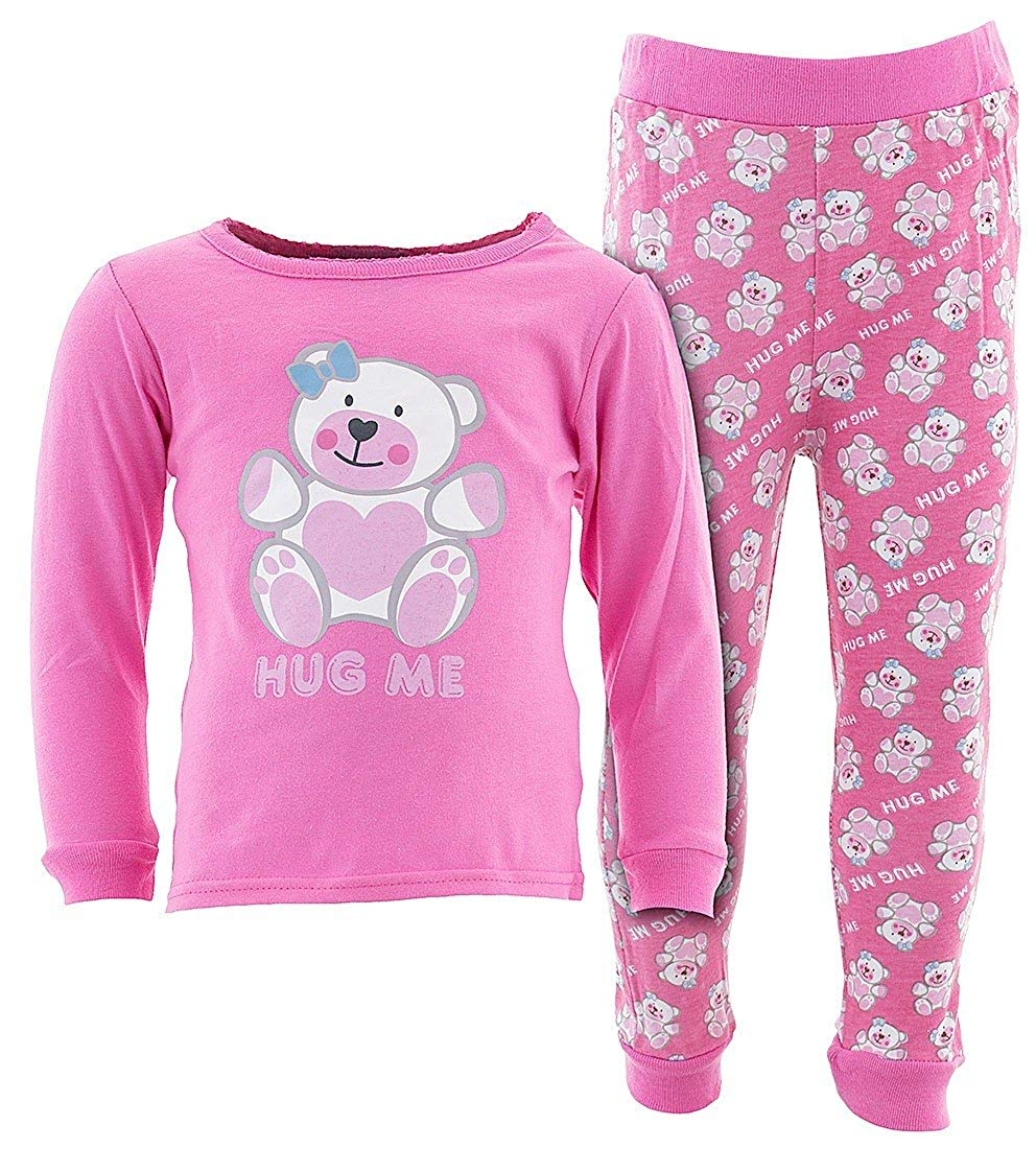 Sweet & Soft Little Girls' Long Sleeve Cotton Pajamas