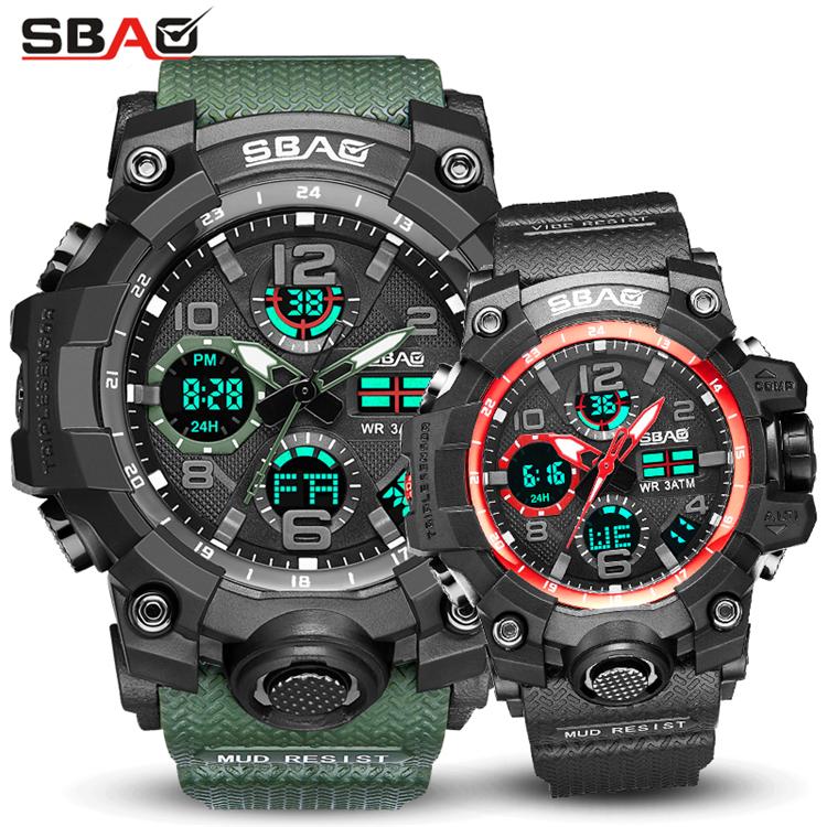 834dcd9a272b Par de relojes Digital de las mujeres de los hombres relojes deportivos de  natación de pantalla