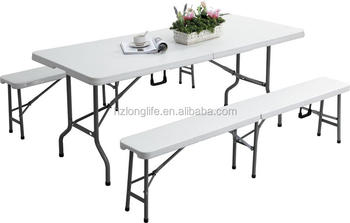 Outdoor 6ft Hdpe Plastic Banquet Portable Folding Foldable Bench