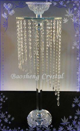 Caliente de altura cristales colgantes decoraci n de la boda con centros de mesa de soporte de - Precios de centros de mesa para boda ...