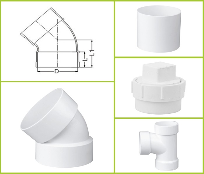 China Supplier UPVC Drain Pipe Fittings 45 Degree Elbow