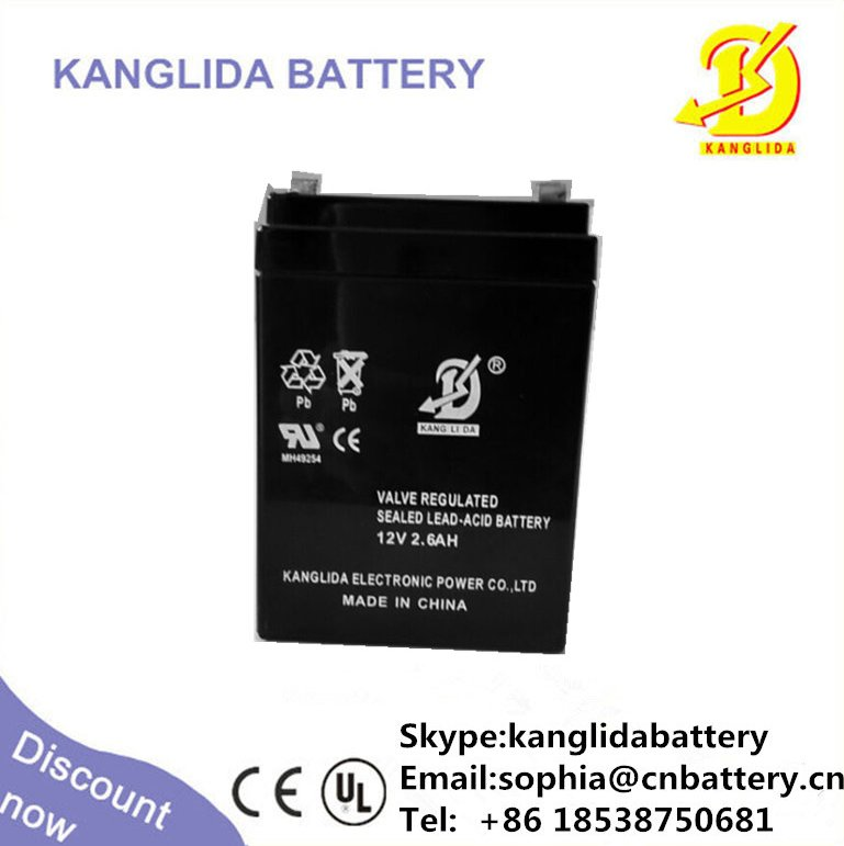Portable electric toy car battery 12v 2.6ah maintenance free SLA battery