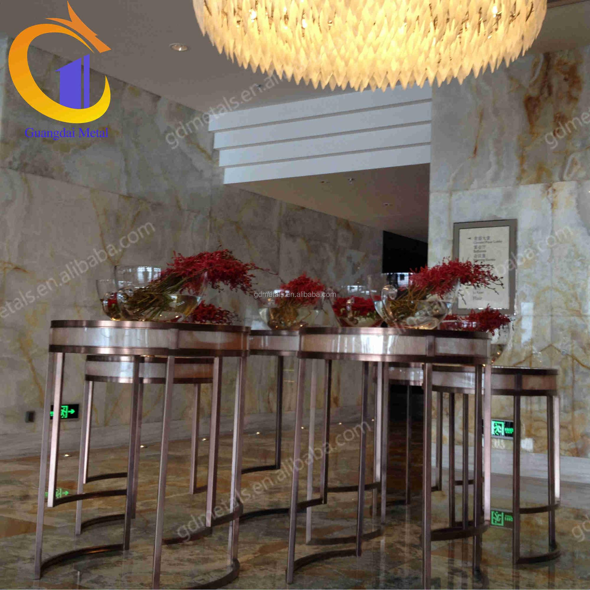 Elegant design one-stop custom OEM production contracting projectstainless steel metal furniture table leg.