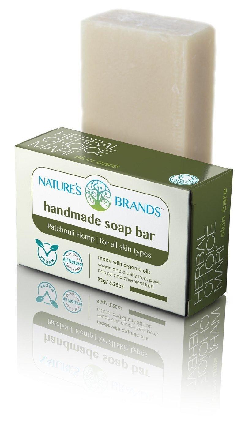 Herbal Choice Mari Natural Handmade Soap Bar, Patchouli Hemp; 3.2oz