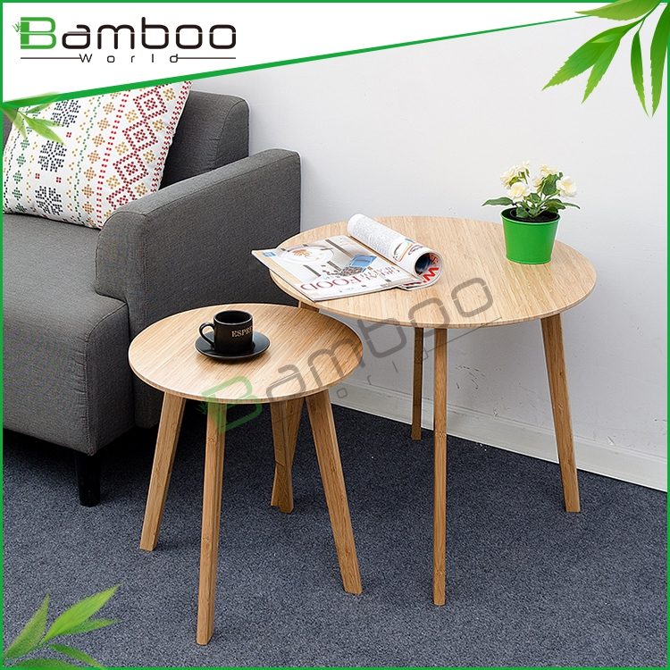 Eco-friendly Natural Lightweight Bamboo Diy End Table