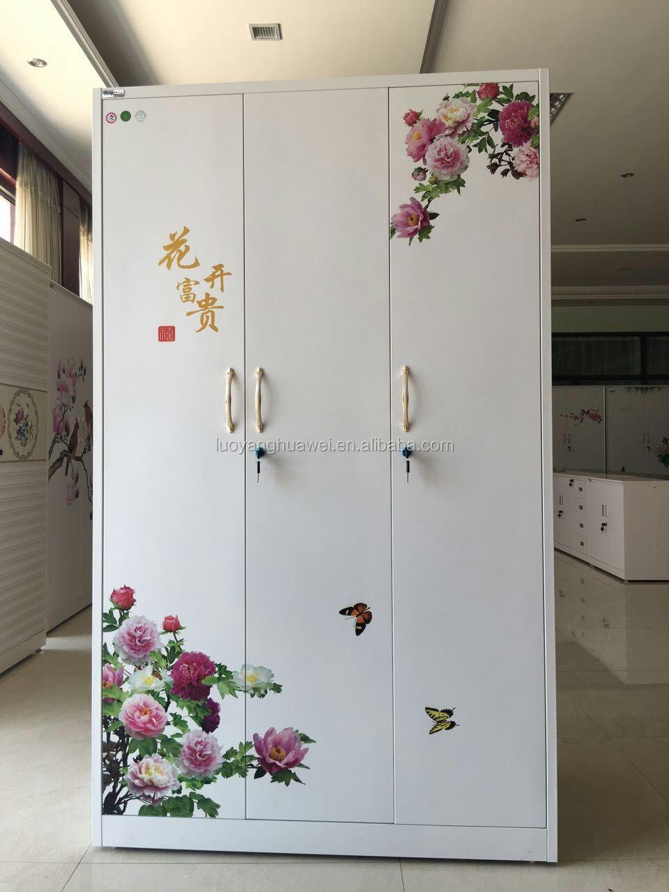 ... Cold Roll Steel Plate Living Room Furniture Closet Wardrobe / Kids  Metal Almirah Design