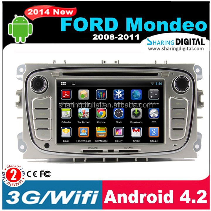 SharingDigital popular Android 4.2.2 Gps Navigator With Global Map for ford mondeo