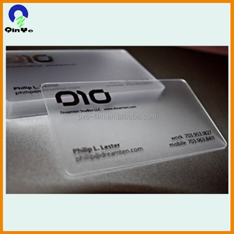 Different Types Full Color Printing Plastic PVC Card with micro print