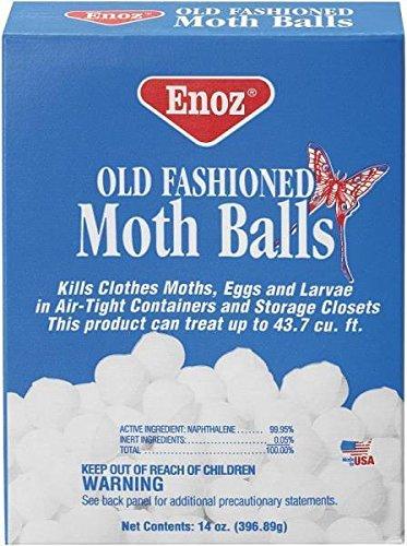 New Factory Case (12) Packs Enoz 58.12 14oz Moth Balls Old Fashioned 9251117