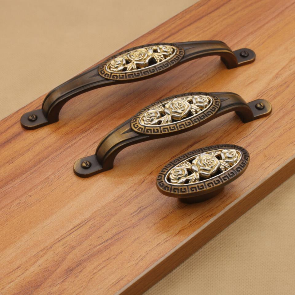 Kitchen Cabinet Drawer Pulls And Knobs: Furniture Handles Roses Antique Kitchen Cabinet Knobs And