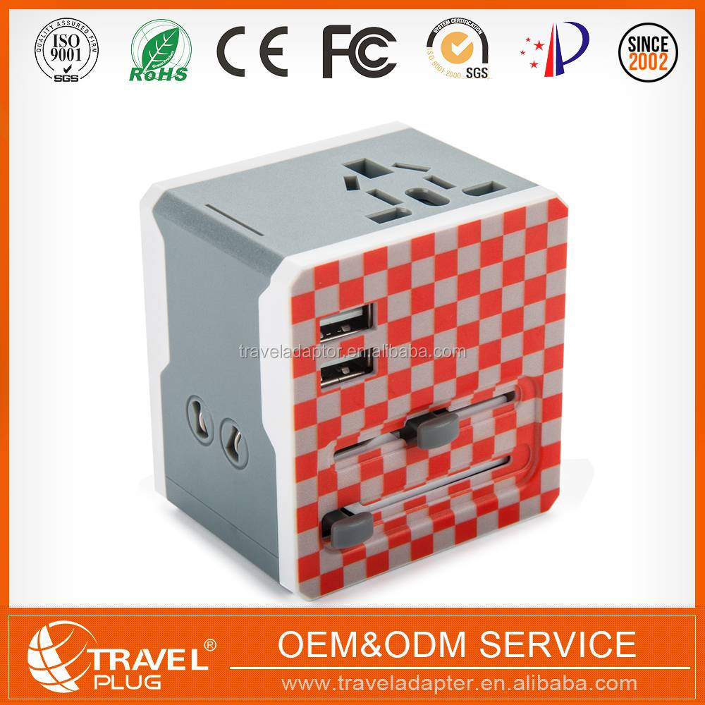 International Protable 2017 hot selling Patent universal power adapter travel converter au eu uk