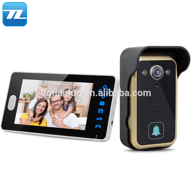 7 Inch 24Ghz Wireless Video Doorbell Open Lock Two Way Intercom System Door Phone
