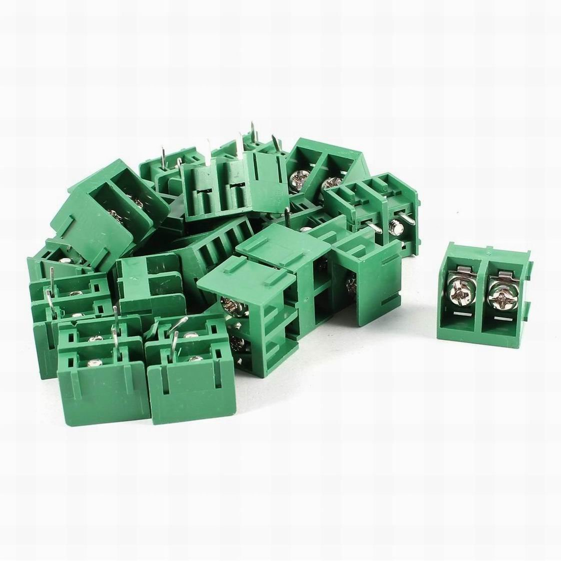Houseuse 20 Pcs HB9500 2 Position 9.5mm Screw Terminal Barrier Blocks 300V 30A