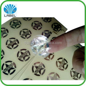 China direct printing cable label, adhesive transparent UL label