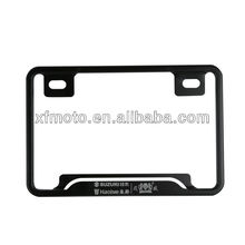 Motorcycle BLACK Aluminum License Plate Frame Bracket For MOTORCYCLE SUZUKI UNIVERSAL