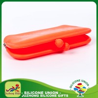Silicone custom women snap closure mini wallet