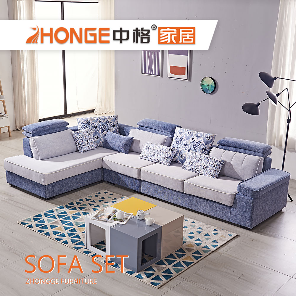 Contemporary Furniture L Shaped Corner Design Adjustable Headrest Fabric  Living Room Sofa Set - Buy Contemporary Fabric Sofa,Adjustable Headrest ...