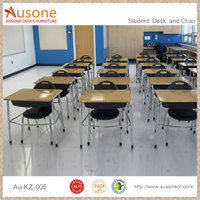 high quality plastic and wooden school table and chairs set