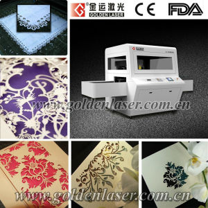 Greeting/Wedding/Invitation Card Paper Laser Cutting Machine Price