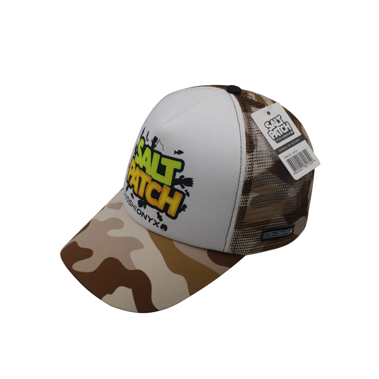 8b5a744b1f7 Promotion Printing Logo Camouflage Out Door Trucker Hat And Cap ...