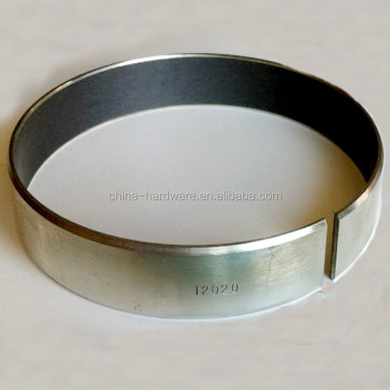 Brass/Bronze/Copper slide bushing,Du steel backing Teflon ring,PTFE oil free bearing